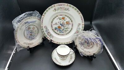 Wedgwood Kutani Crane  Five 5 Piece Place Setting (S) New Never Used