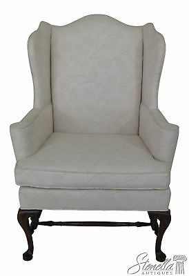 46182EC: HICKORY CHAIR CO. Off White Upholstered Wing Chair