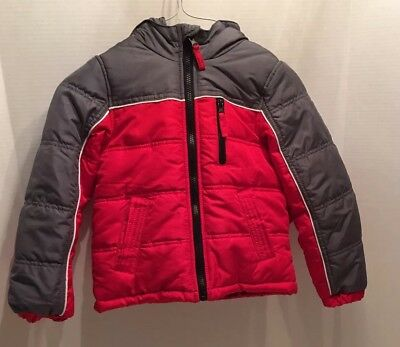 6f3bd88be875 NWT CANYON RIVER Blues Boy s Size 5-6 Hooded Puffer Jacket Coat ...