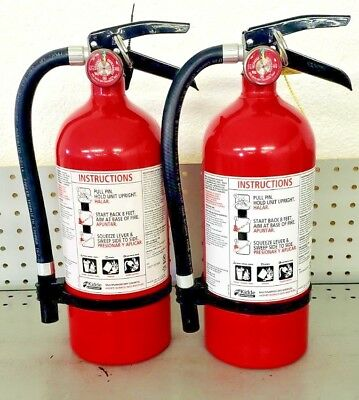 Fire Extinguisher ABC Dry Chemical  - Kidde - Rechargeable - Two Pack