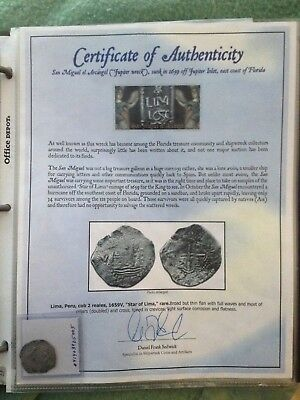Jupiter Shipwreck: 1659 Star of Lima 2Reales (Rare)