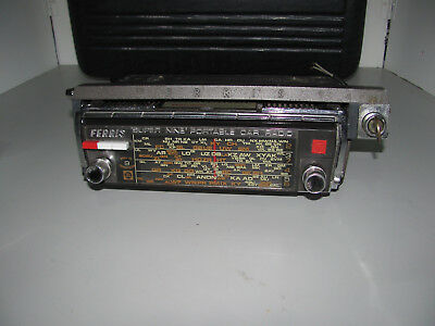 Ferris Super 9 Portable Under Dash AM Picnic Car Radio With Cradle Fully Working