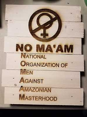 "Married with Children ""NO MA'AM"" custom wood sign poster"