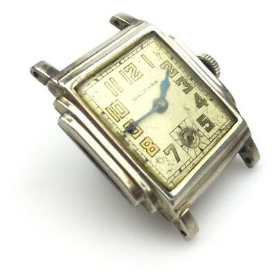 Vintage Waltham Mens Watch 14K Solid Gold 1930's Carriers Ferry P.o Art Deco