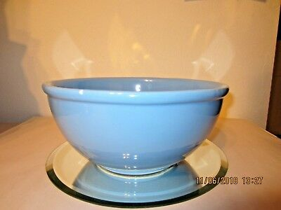 "Large Vintage Gaetano Pottery Mixing Bowl Light Blue 10 3/4"" wide"