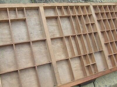 Letterpress Printing WOODEN TYPECASE Compositors Case Printers Tray Broken Slat