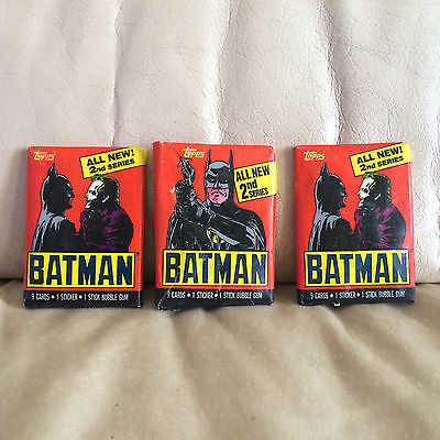 1989 Topps Batman 2nd Series Trading Cards Sealed Wax Packs - 2 Packs Sealed