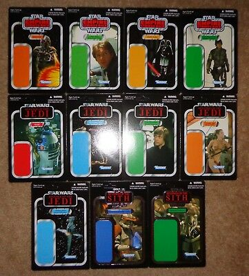 Star Wars Celebration SDCC Cardback proof set of 11 different unpunched cards D