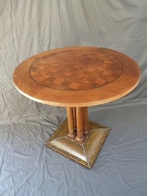 Antique 19th Century Arts and Craft Wooden Occasional Table