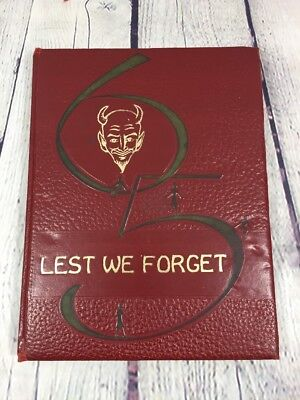 Vtg 1965 Trimble TN Demons Lest We Forget High School Yearbook Annual (1st-12th)