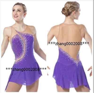 Ice skating dress.Stoned Competition Figure Skating dress. Baton Twirling custom