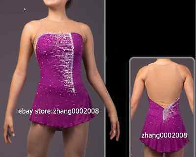 Ice skating dress.Twirling Competition Figure Skating dress. Sparkles Custom