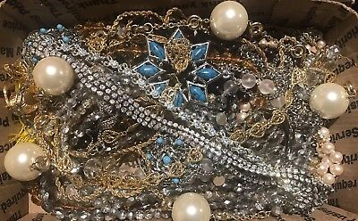Lot- BB133  Huge Lot Of Vintage Necklaces