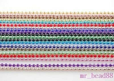 """Mixed Colors Round Bead Chain DIY Jewelry Making Findings Fit Necklace 27"""" 10pcs"""