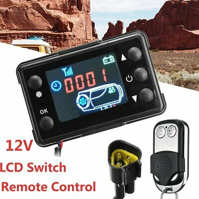 Remote Control W/LCD 12V Monitor Switch Car Truck Diesel Air Heater Controller