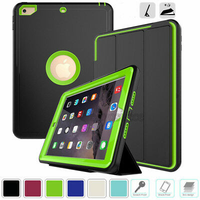 """For Apple iPad 9.7"""" 6th Generation 2018 Hybrid Heavy Duty Protective Case Cover"""