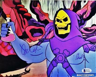 ALAN OPPENHEIMER SKELETOR SIGNED MOTU 8x10  METALLIC PHOTO BAS COA 331