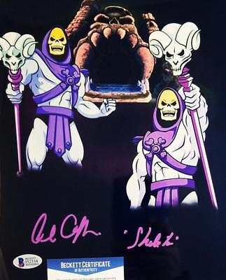 ALAN OPPENHEIMER SKELETOR SIGNED MOTU 8x10  METALLIC PHOTO BAS COA 334
