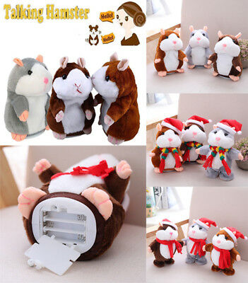 Cheeky Hamster Talking Mouse Pet Christmas Toy Speak Sound Record Hamster Gifts