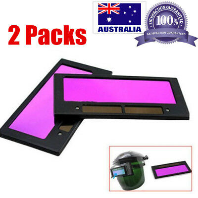 2x Solar Panel Auto Darkening Welding Helmet Mask Lens Filter Shade Safety Part