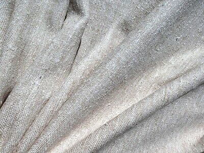 Mid Century Modern 60's 70's VINTAGE Fabric TWEED Natural Color Upholstery Nubby