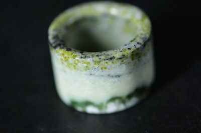Delicate Chinese old jade Carved Fingerstall/Thumb Ring  G16