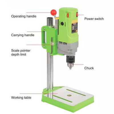 Bench Drill Press Bench Mounted 2800r/min Electric Operation Table Stand Base AU