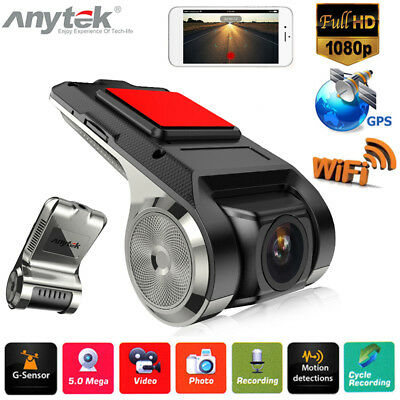 150° 1080P Full HD Car DVR Camera Video Recorder WiFi GPS ADAS G-sensor Dash Cam