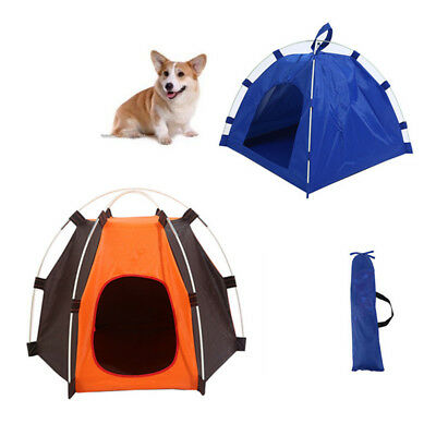 Pet Dog Puppy Tent House Oxford Waterproof Foldable Portable For Outdoor Summer