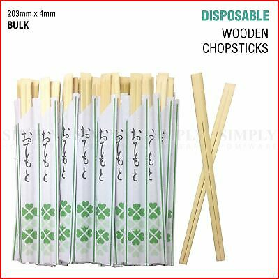Disposable Chopsticks Wooden Beige Cutlery Catering Restaurant Japanese Bamboo