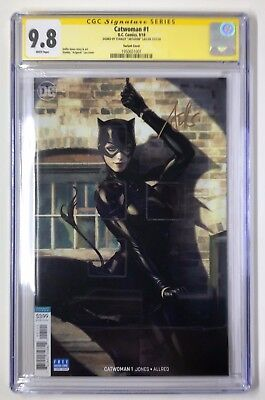 DC's Catwoman #1 Signed Artgerm Variant CGC 9.8