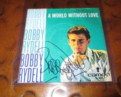 Bobby Rydell pop singer signed autographed photo teen idol