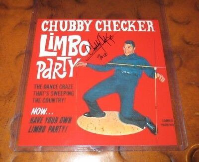 Chubby Checker The Twist pop singer signed autographed photo teen idol