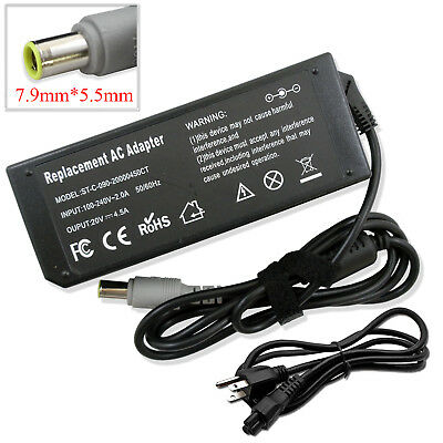 20V 4.5A 90W AC Adapter Charger For IBM Lenovo ThinkPad Laptop Power Supply Cord