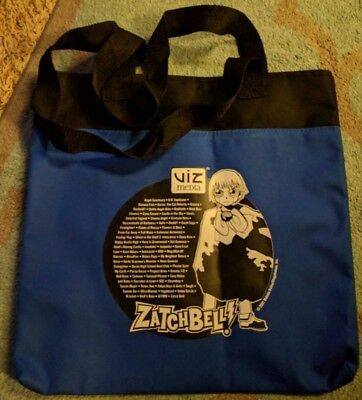Shonen Jump Viz Media Blue Tote Bag - Naruto & Zatchbell Anime Expo Promo Bag