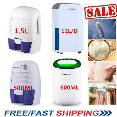 500Ml/600Ml/1.5L Dehumidifier Air Purify Moisture Damp Bedroom Bathroom Kitchen