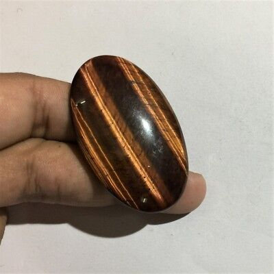 63.1 Cts 100% Natural Red Tiger Eye Cabochon Handcrafted Gemstone L#1817-8