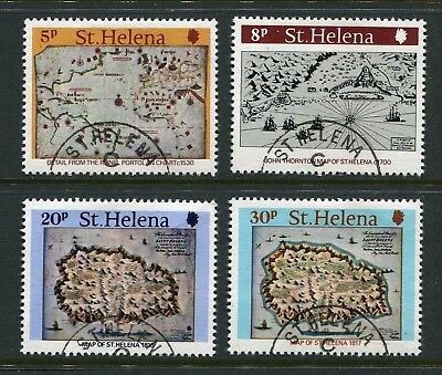 St Helena: 1981 Early Maps / Cartography Set of 4 Stamps SG373-376 Used AS282