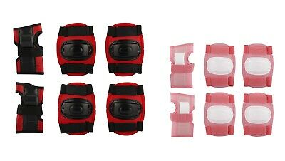 Junior Protective Set Pink Knee Elbow Wrist Pads Gear Safety Guard