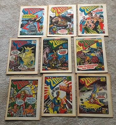 20000AD COMICS 1977 x 9 VERY NICE
