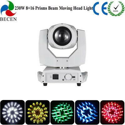 230w 7R Sharp Beam Moving Head Light 8 Prism 20CH Touch Screen Dj Stage