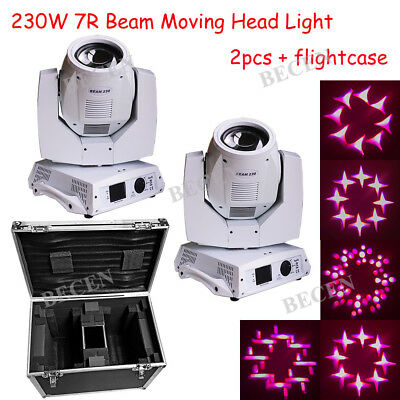 230W Sharp Beam Moving Head Light For Party 20CH Touch Screen 2pcs+Flightcase