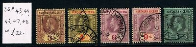 NORTHERN NIGERIA • 1912 KGV  • Used • SC43, 44, 46-48 / SG43, 44, 46-48