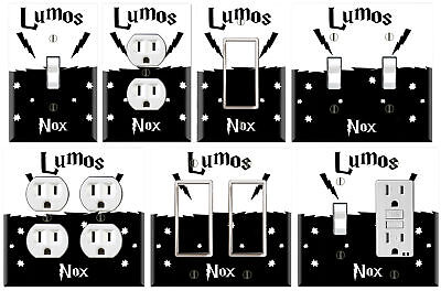 Harry Potter Lumos Nox - Graphics Art Toggle/Rocker/GFCI/Outlet Wall Plate