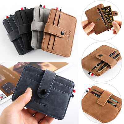 Purse Business Money Pocket Card Holder ID Credit Case Small Wallet Leather