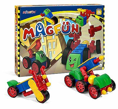 Magfun 50Pcs Magnetic Building Blocks Toy Sets DIY Car Truck Boys & Girls Age 3+