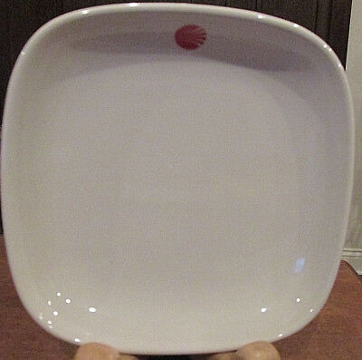 Continental Airlines Plate 1St Class Service Dish White With Red Logo Japan
