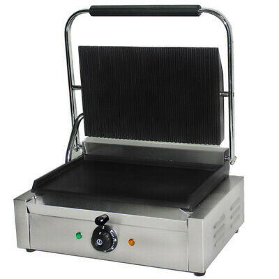 Extra Wide Commercial Electric Panini Grill / Contact Grill / Toastie Maker