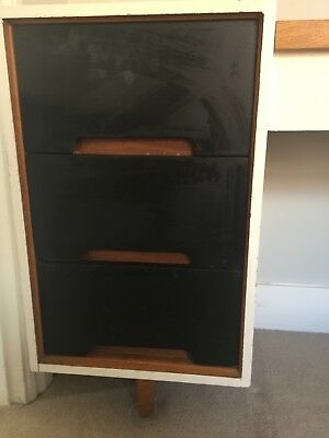 Mid century wooden Stag Dressing table with concealed mirror