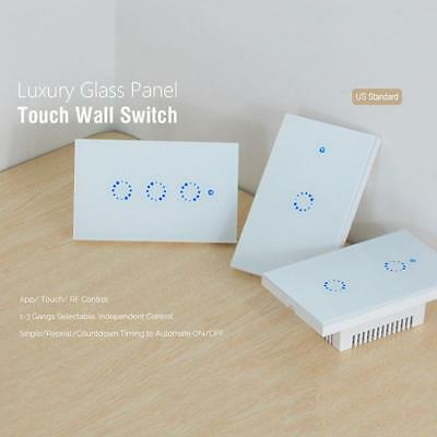 Wireless WiFi Light Relay 315MHz RF Touch APP Control Smart Wall Switch for Home